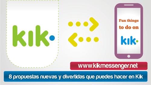 8 propuestas nuevas y divertidas que puedes hacer en Kik