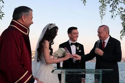 Presiden Erdogan Hadir Dan Jadi Saksi Pernikahan Bintang Sepak Bola Mesut Ozil
