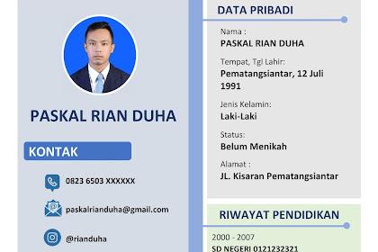 Download CV Lamaran Kerja Word Untuk Fresh Graduate Yang Baru Tamat Sekoh Atau Kuliah | Mudah Edit