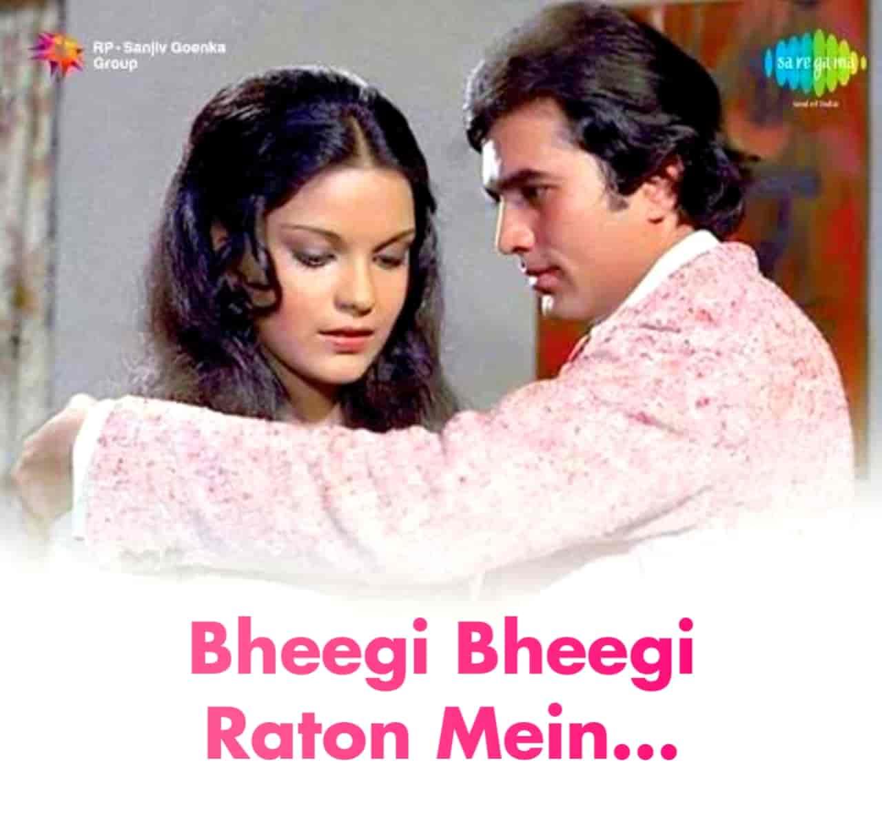 Bheegi Bheegi Raton Mein Hindi Romantic Song Lyrics, Sung By Kishor Kumar & Lata Mangeshkar.