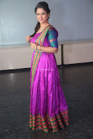 Shilpa Chakravarthy in Purple tight Ethnic Dress ~  Exclusive Celebrities Galleries 063.JPG