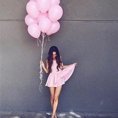 balon warna pink