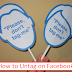 How to Untag someone On Facebook App