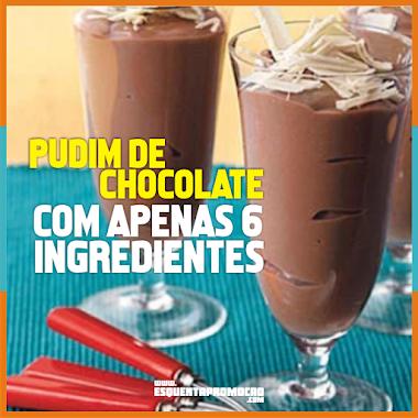 Receita de Pudim de Chocolate COM APENAS 6 INGREDIENTES