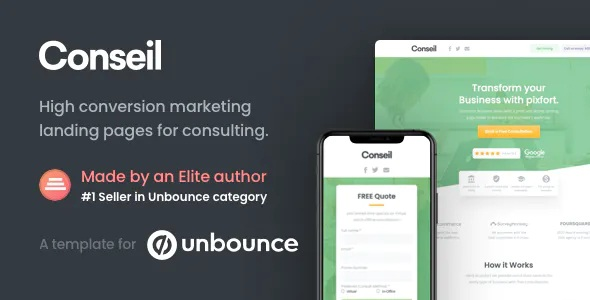 Best Consulting Business Unbounce Template