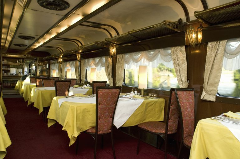Feed your somber spirits in the Tram Restaurant