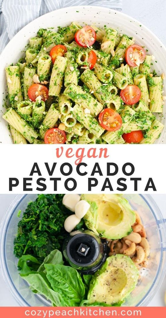 VEGAN AVOCADO PESTO PASTA #recipes #healthymeals #quickhealthymeals #food #foodporn #healthy #yummy #instafood #foodie #delicious #dinner #breakfast #dessert #lunch #vegan #cake #eatclean #homemade #diet #healthyfood #cleaneating #foodstagram