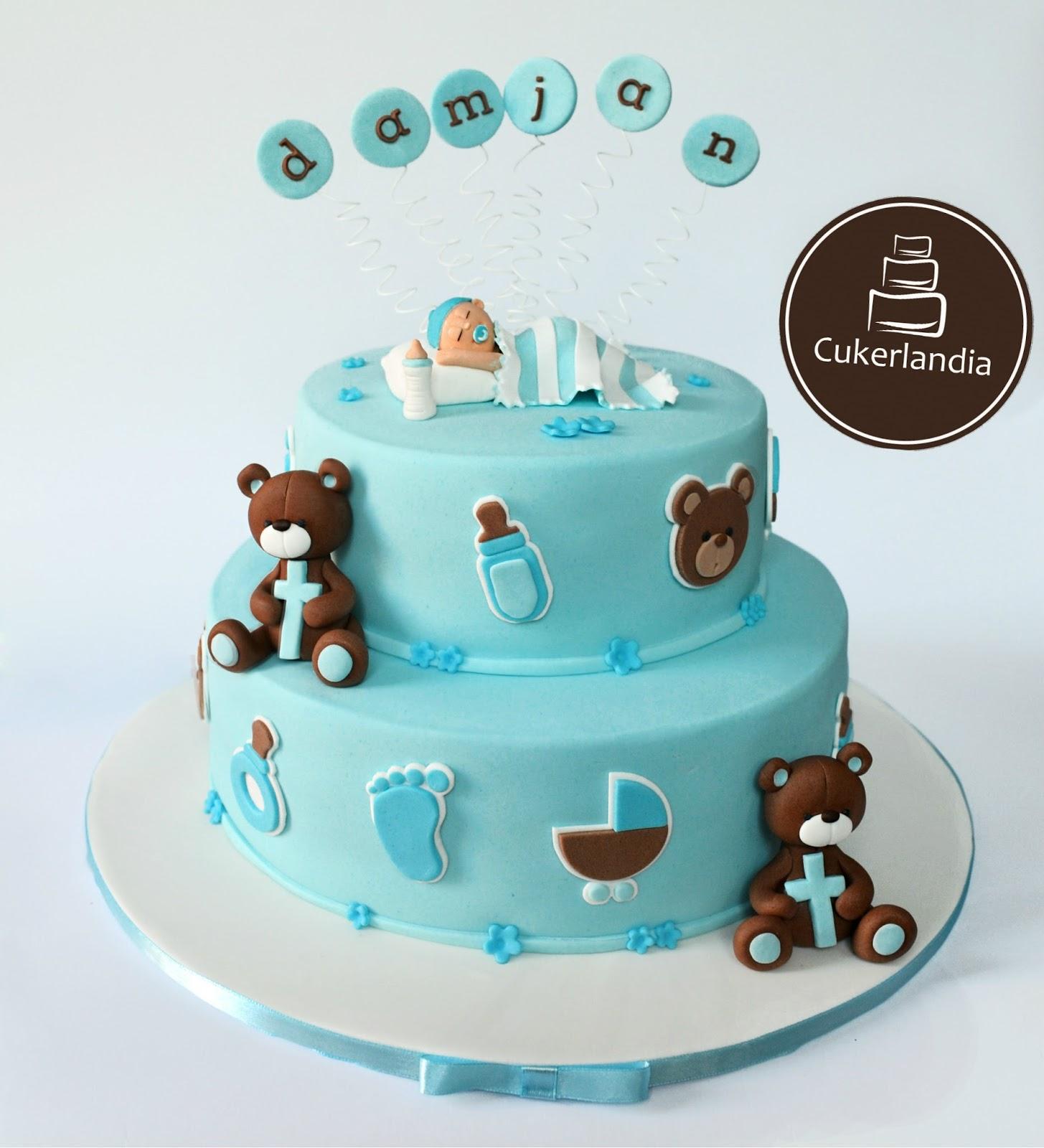Torte i slatkiši : Torta za krštenje (Christening Cake)
