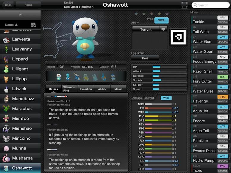 Pokédex for iOS - Informações de Pokémon