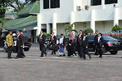 Kasum TNI Sambut Kedatangan Wapres RI di Mako Paspampres