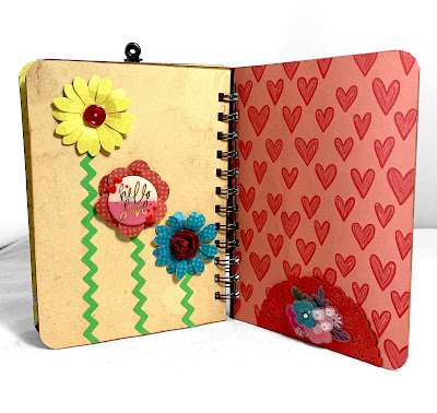 KB and Friends' Retro Valentine's Day Mini Album Inside Flower Page