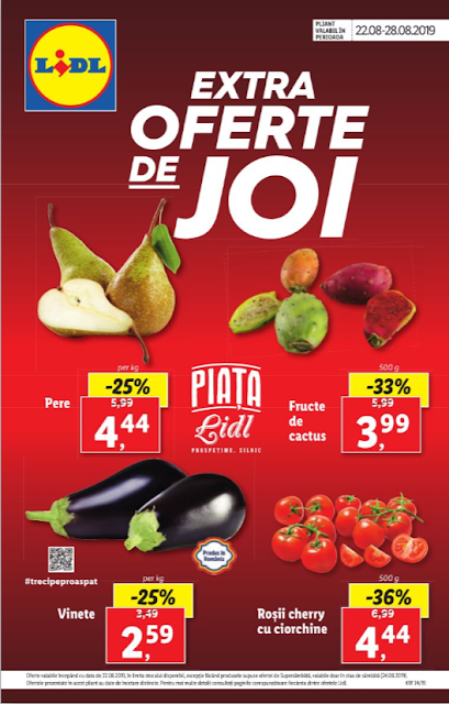 EXTRA OFFERTE DE JOY 22-25.08 LIDL.RO
