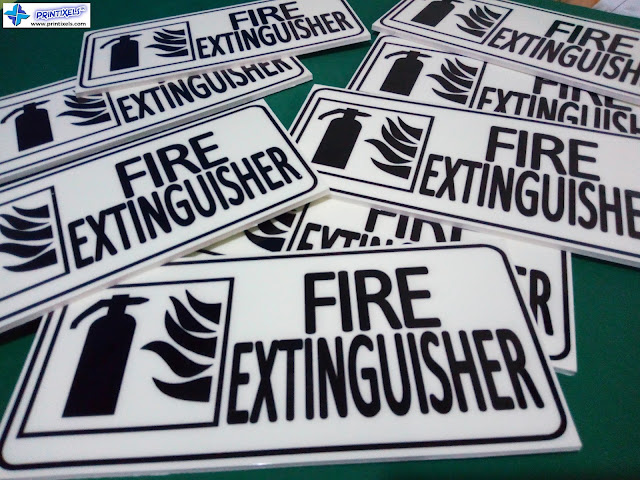 Glow in the Dark Fire Extinguisher Signs - Lotus Labs Philippines