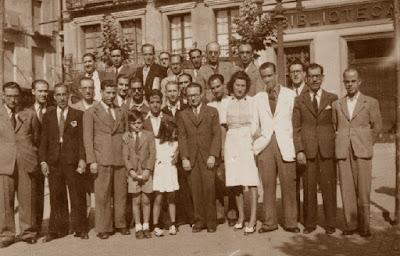 Ajedrecistas participantes en el Torneo Nacional de Mataró-1948