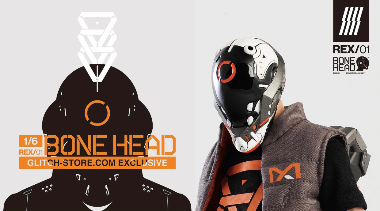 & 1/6 BONEHEAD: R E X from Machine56 x GLITCH Available for Pre-Order Now