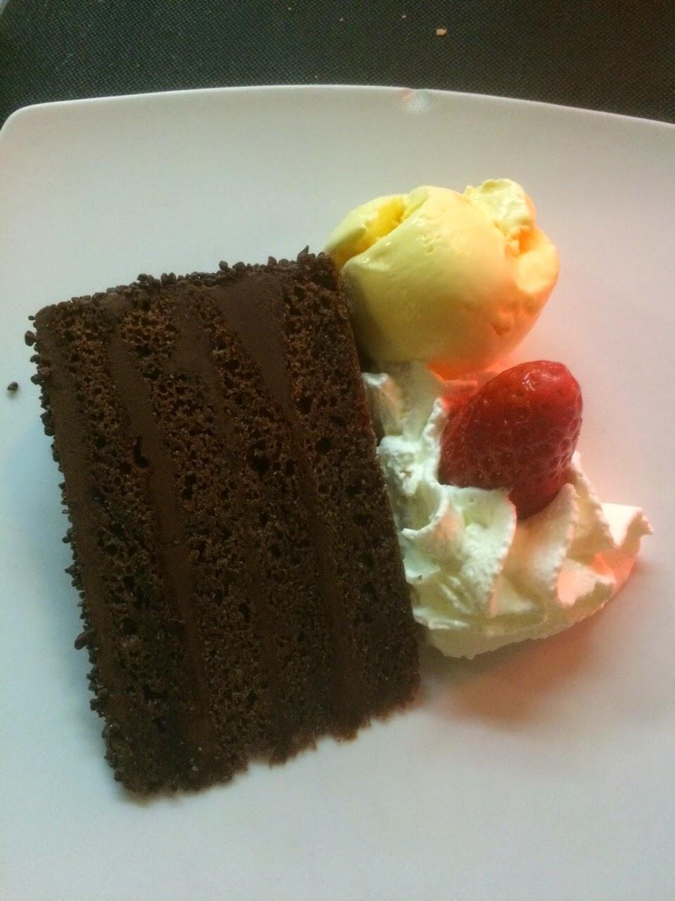 Tarta de chocolate del restaurante Sukalde en Bilbao