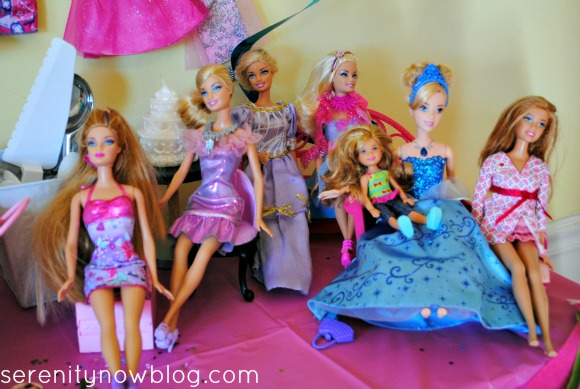 Create a Barbie Lounge for Dolls at the Party! from Serenity Now