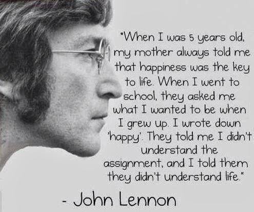 John Lennon happiness jjbjorkman.blogspot.com