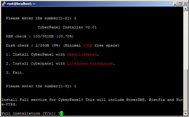 Cara Install CyberPanel di VPS Ubuntu 20.04