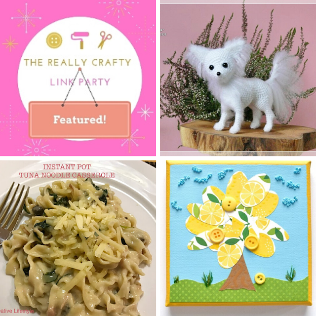 The Really Crafty Link Party #221 featured posts!