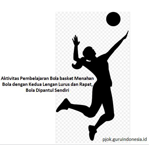Aktivitas Pembelajaran Bola basket Menahan Bola dengan Kedua Lengan Lurus dan Rapat, Bola Dipantul Sendiri