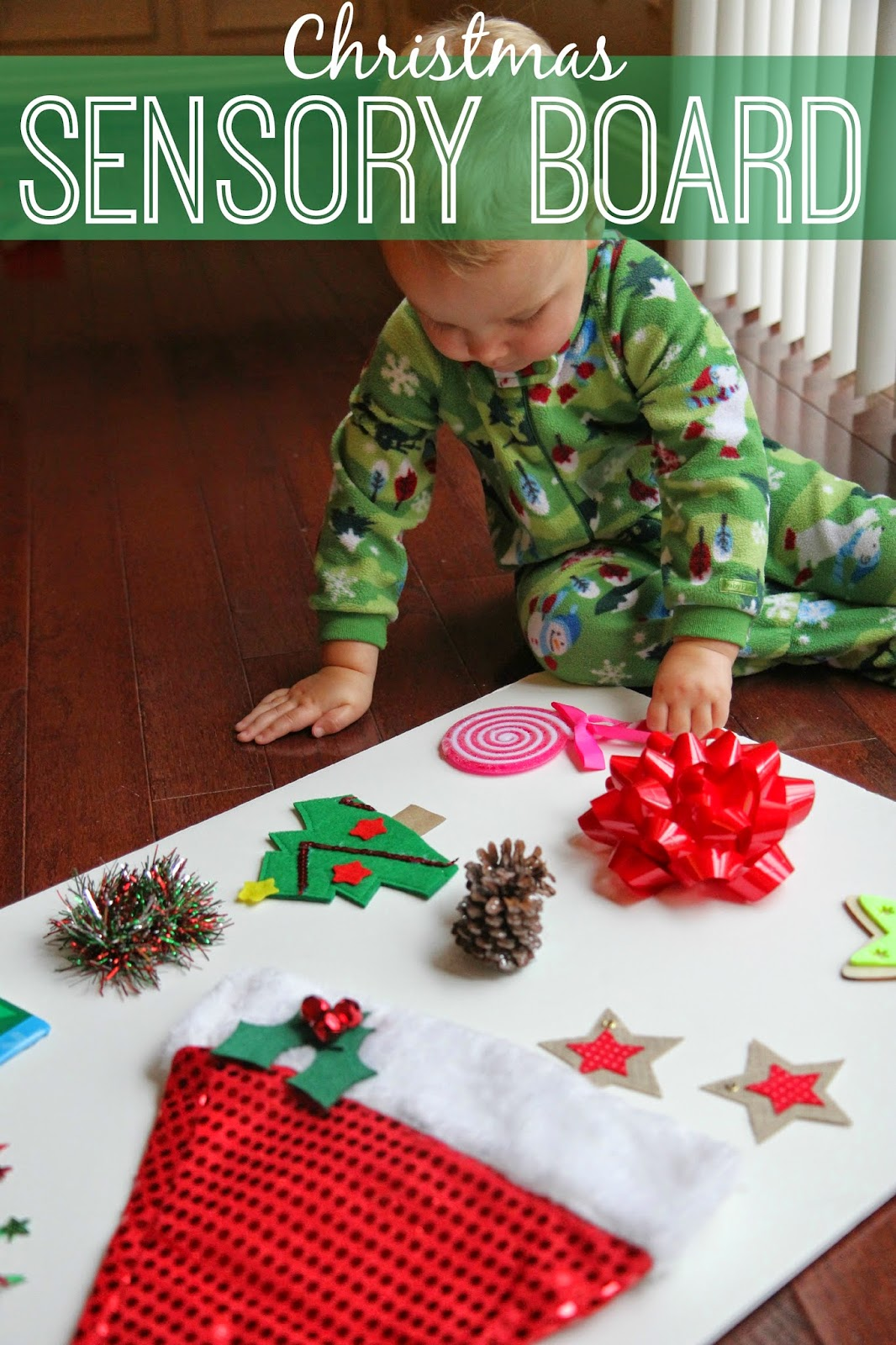 Toddler Approved Christmas Sensory Board For Kids