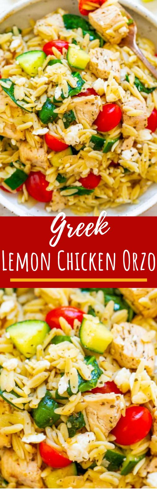 Greek Lemon Chicken and Orzo #dinner #healthy