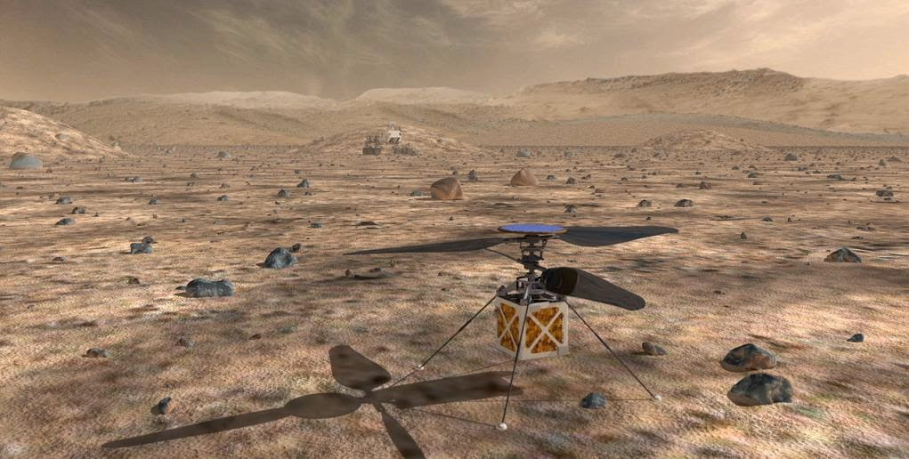 A proposed helicopter could triple the distances that Mars rovers tin laissez passer on the axe campaign inwards a Martian d Helicopter Could last 'Scout' for Mars Rovers