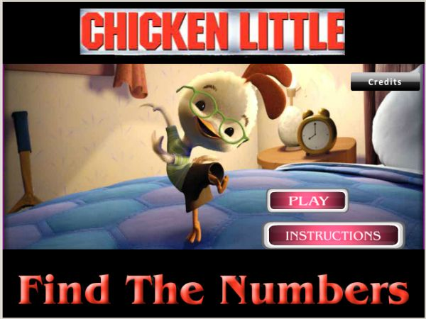 Play Chicken Little Find the Numbers