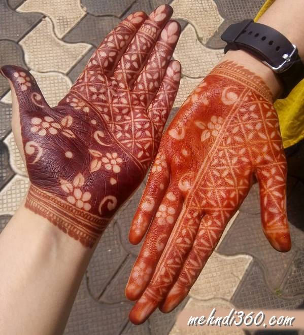 Both Hand Mehndi Design Front