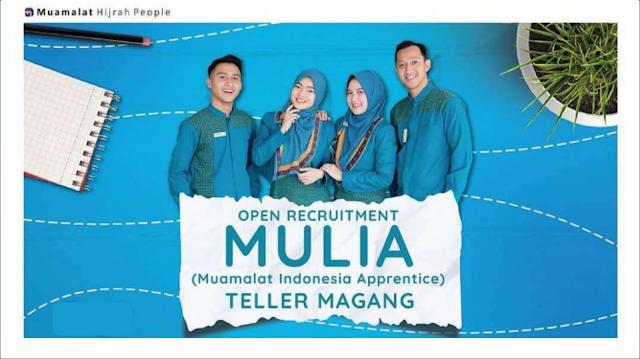 Lowongan Kerja Teller Magang Bank Muamalat Indonesia Tbk Penempatan Balaraja Serang