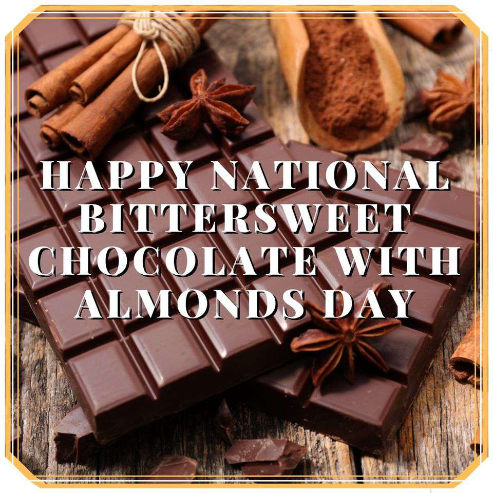 National Bittersweet Chocolate with Almonds Day Wishes Photos
