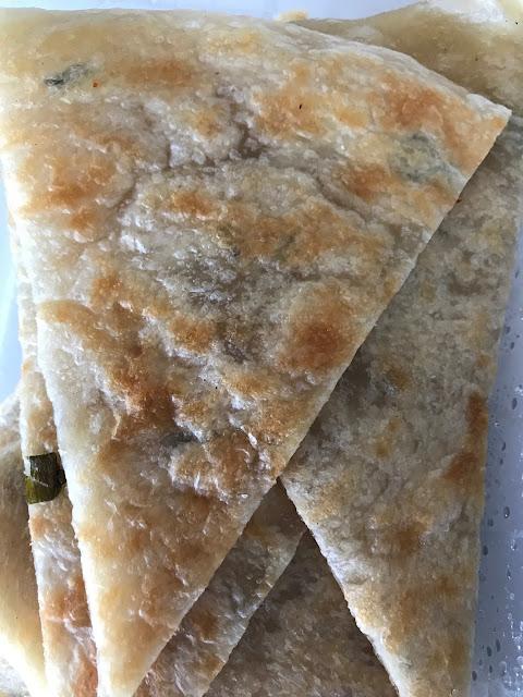 Dumpling King, Hawthorn, spring onion pancakes