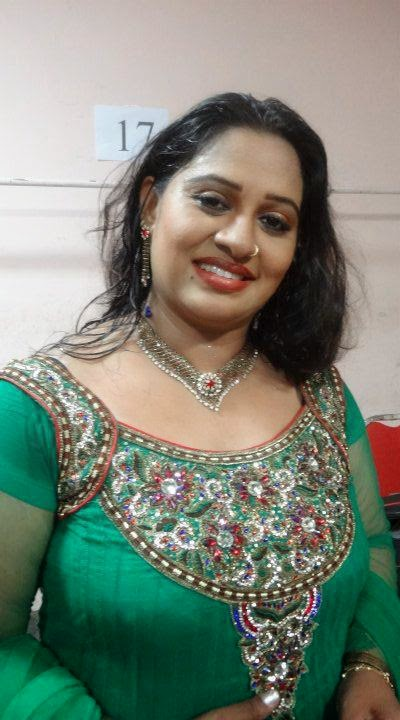 Beena Antony In Green Churidar Photos Mallu Serial Actress -7929