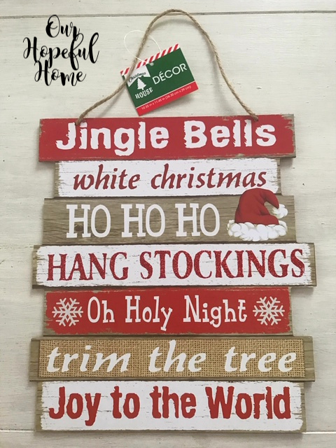 jingle bells wooden dollar tree sign Christmas House Decor