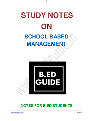 B.ed Second Year Notes PDF Download