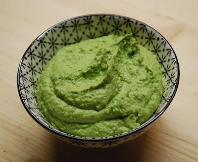 Houmous vert aux épinards
