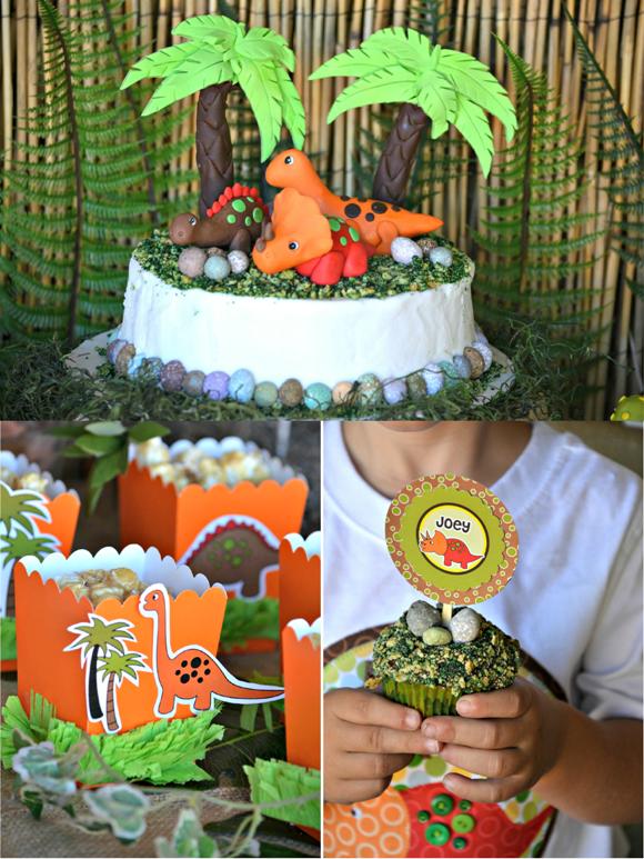 Dinosaur Birthday Party Ideas & Printables - via BirdsParty.com