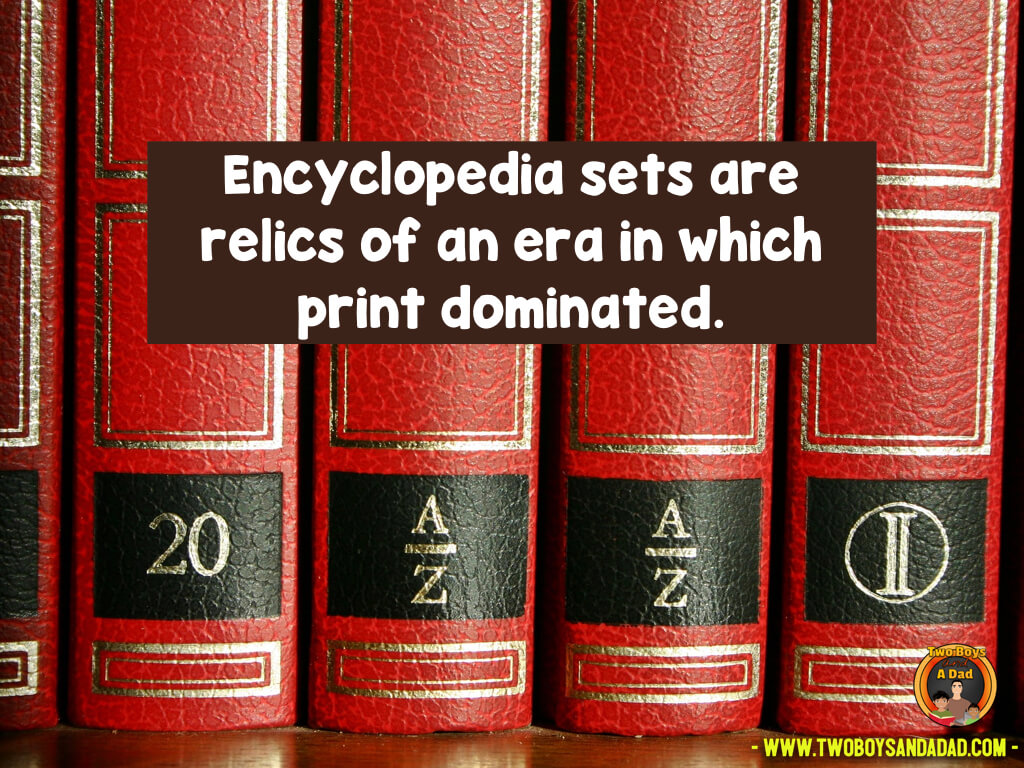 Using encyclopedias is an outdated skill