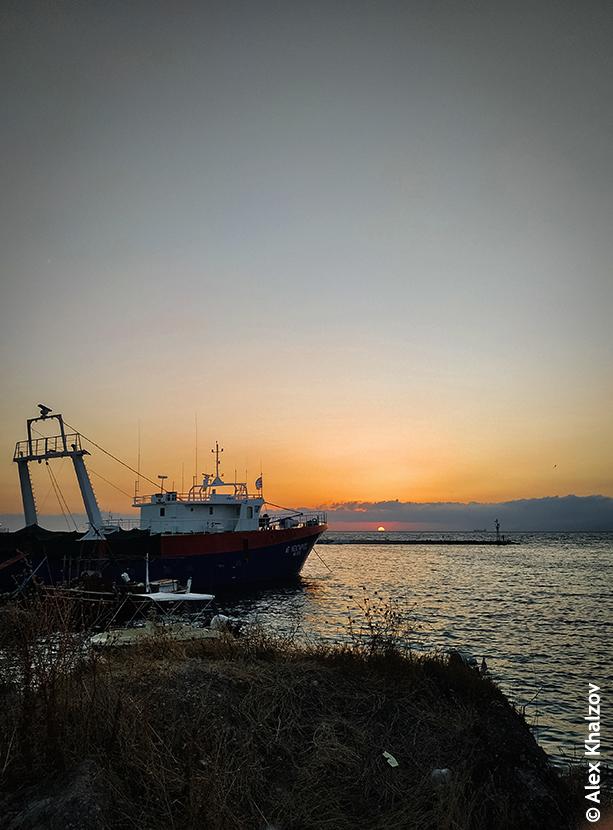 закат в Греции