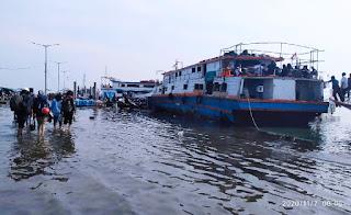 Dermaga Kali Adem Kena Rob,  Layanan Kapal Tradisional Wisata ke Kepulauan Seribu  Tetap Berlangsung