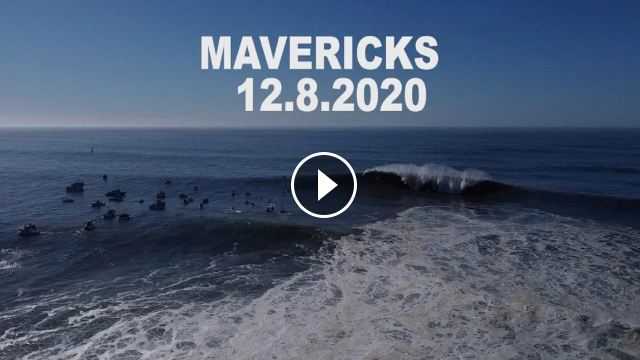 MAVERICKS BIG WAVE DRONE FOOTAGE DECEMBER 8 2020