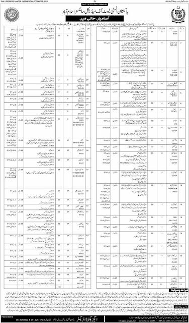 PIMS Islamabad Jobs 2019 OTS Application Form