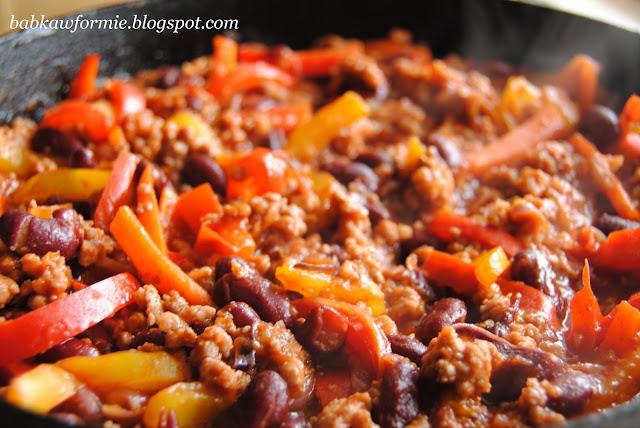chili con carne danie jednogarnkowe babkawformie.blogspot.com