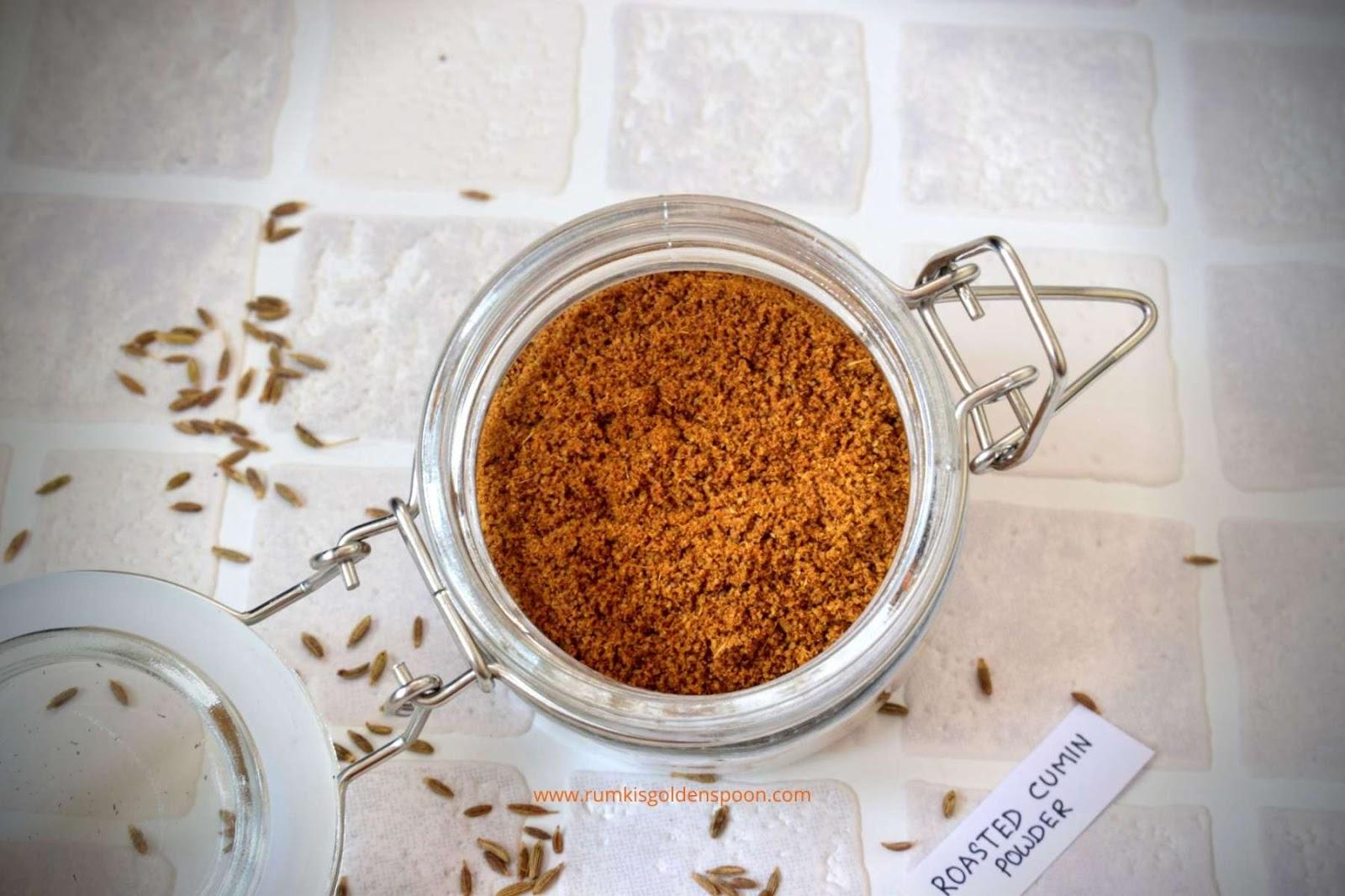 cumin, cumin powder, cumin spice, cumin and curry, what cumin used for, cumin recipes, roasted cumin powder, uses of cumin powder, cumin powder meaning, cumin water benefits, bhuna jeera, how to make cumin powder, DIY recipe, ground cumin, Rumki's Golden Spoon