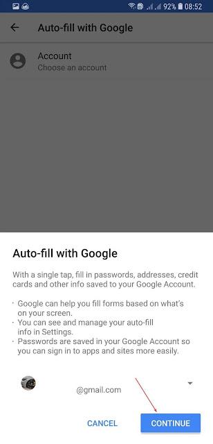 الملء التلقائي-كلمة المرور-android-settings-الملء التلقائي-متابعة