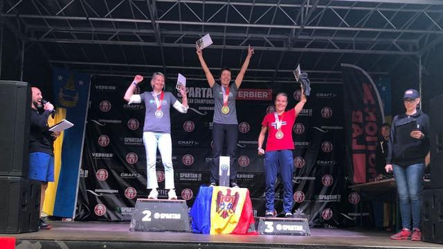 """Moldoveanca Elena Iabanji originară din r.Cantemir- campioană europeană la """"Spartan Race"""", din Elveția"""