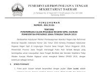 Penerimaan CPNS Pemerintah Provinsi Jawa Tengah Tahun 2019
