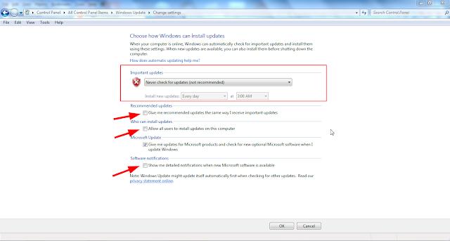update windows 7 2