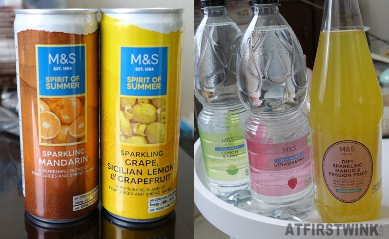 M&S Marks and Spencer summer drinks sparkling mandarin grape sicilian lemon grapefruit fruity still water mango passion fruit bitter lemon diet soda